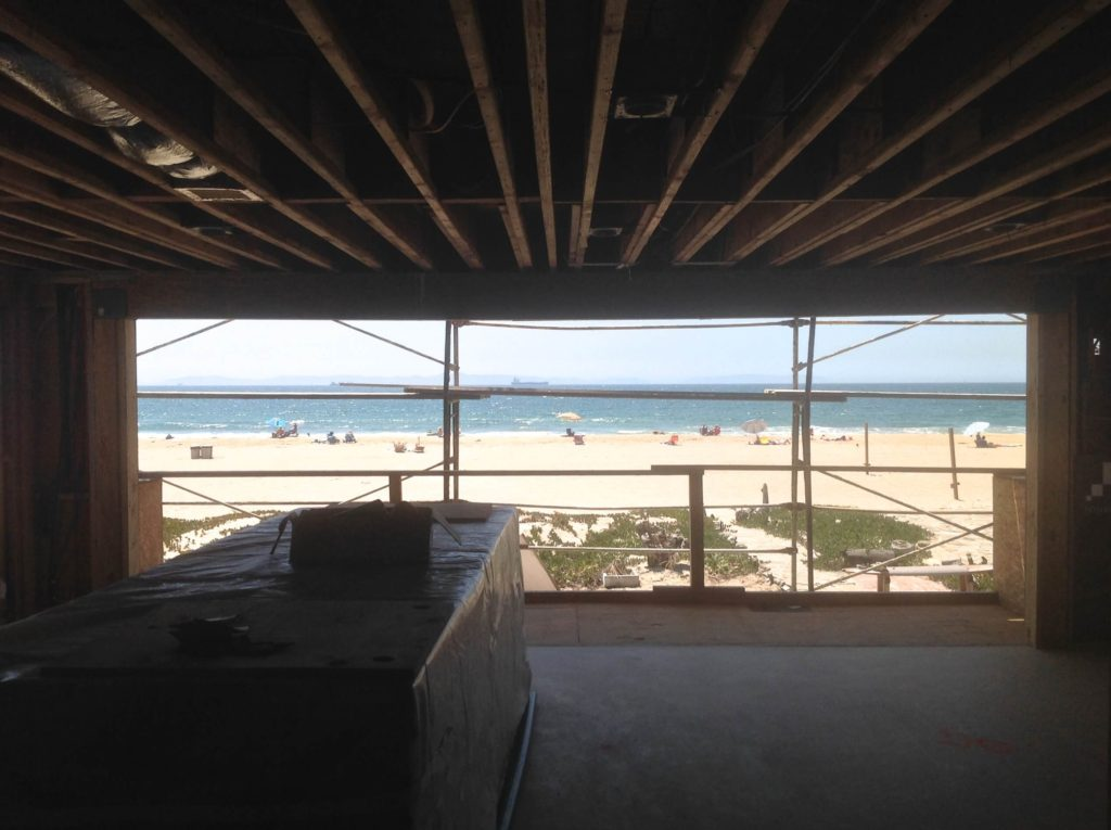 During construction of Sunset Beach home by J. Carr Contracting