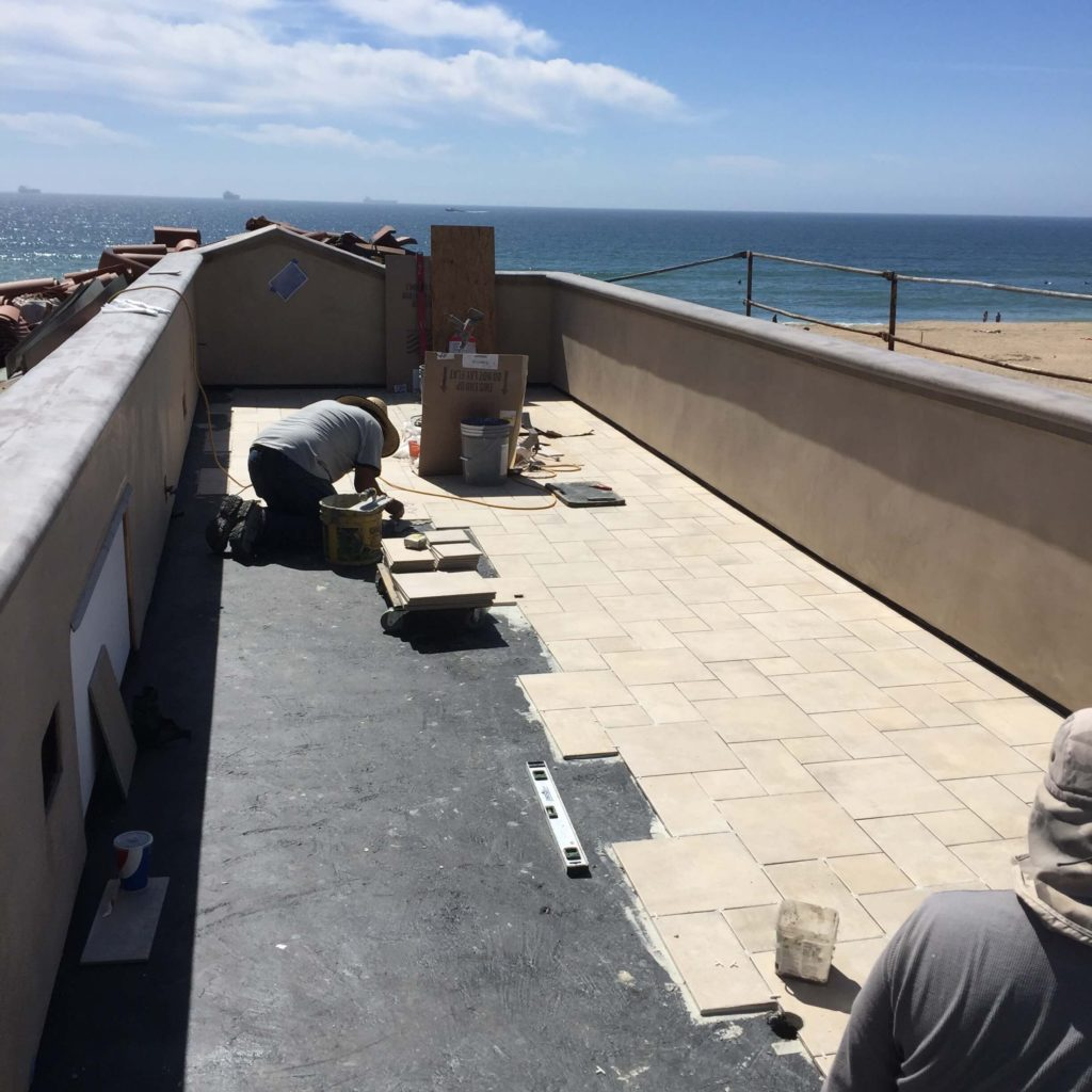 During Construction on Sunset Beach roof built by J. Carr Contracting Orange County's honest contractor
