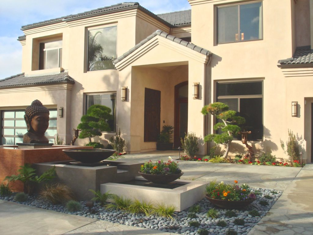 Front Entry Custom home in Newport Beach